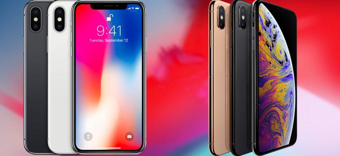 Сравнение смартфонов iPhone XS и iPhone X