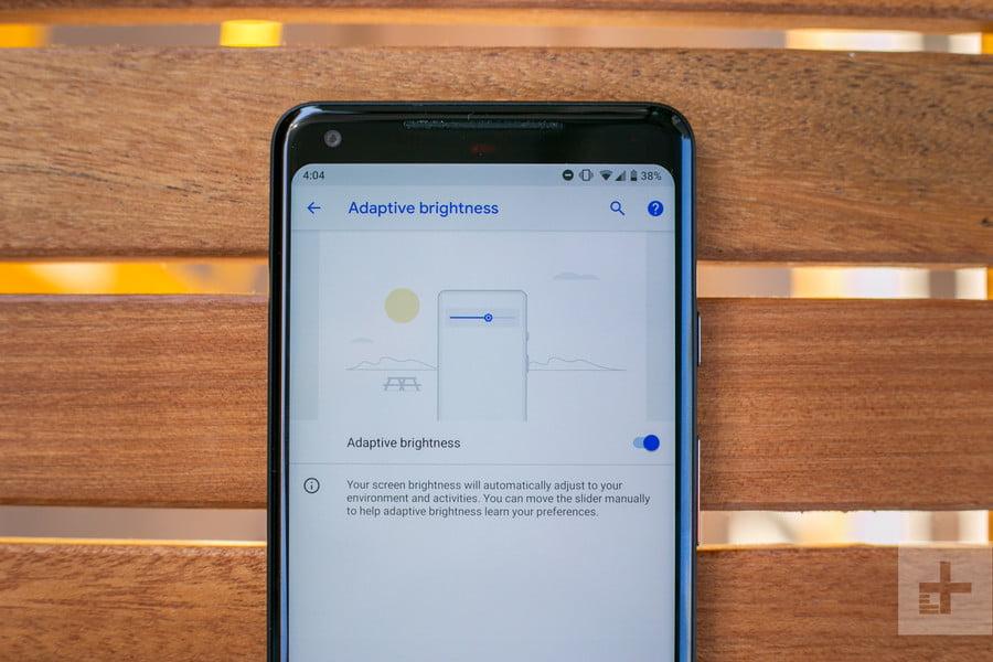 Обзор Android 9 Pie - Adaptive Brightness